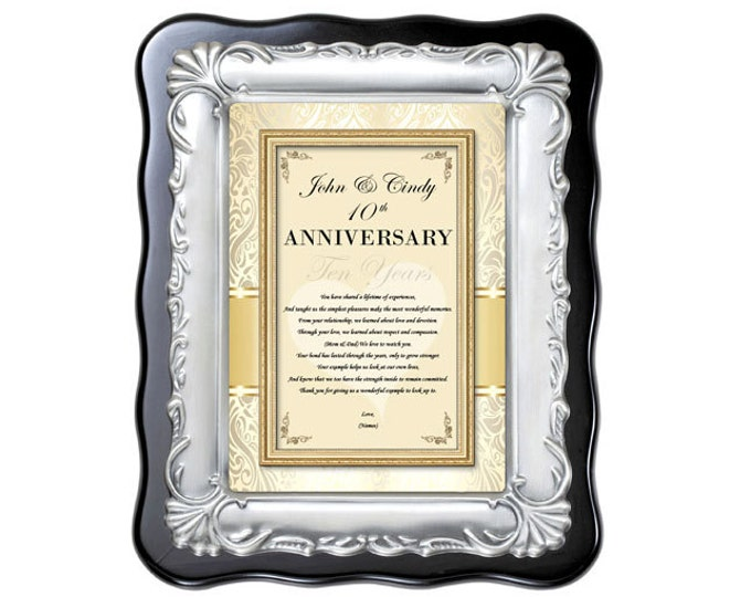 Personalized Anniversary Gift For Parents Poetry Plaque Mom & Dad Congratulation Wedding Anniversary Present Best Wishes From Son Daughter