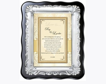 Romantic Anniversary Birthday Gift Plaque of Poetry for Husband Wife Boyfriend Girlfriend I Love You Poem Engagement