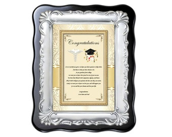 Medical School Graduation Gift Plaque College Medicine Optometry Dental Pharmacy Present Graduate Congratulation Frame