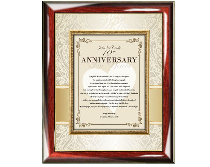 Personalized Poetry Parents Happy Anniversary Gift Photo Picture Frame Wedding Present Mother Father Mom Dad Best Wishes