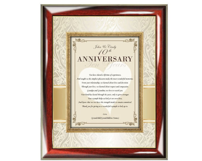 Parents Poetry Anniversary Gift Wall Frame Mother Father Present Wedding Anniversary Poem Congratulation Mom Dad