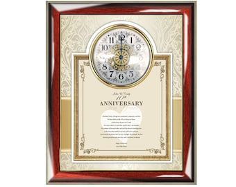 Poetry Anniversary Gift Clock Frame Poetry Plaque Clock Personalized Love Poem Happy Anniversary Wife Husband Girlfriend