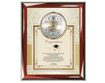 Pharmacy Dental Medical School Graduate Graduation Clock Poetry Frame New Physician Doctor School of Medicine Present Gift