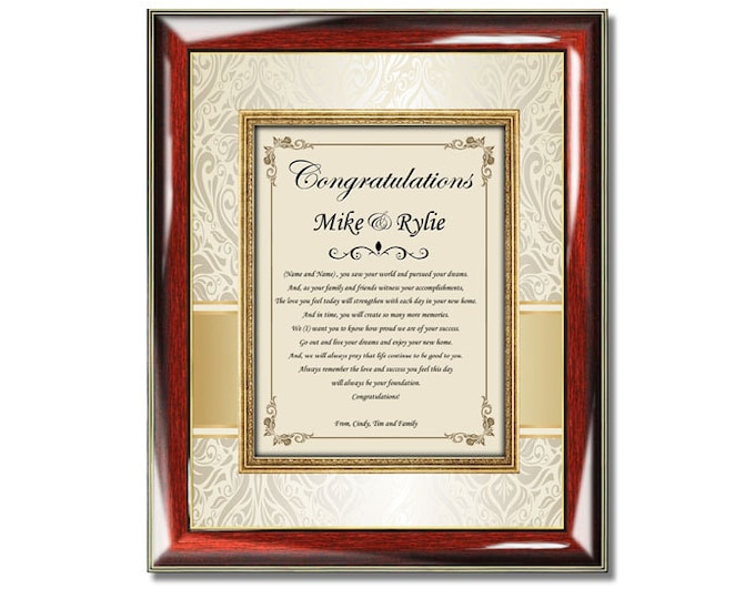 Personalized Housewarming Gift Frame Unique New Home Buyer Presents Home Sweet Home Gifts Traditional Housewarming