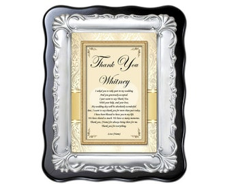 Bridesmaid Gift Maid of Honor Thank You Gift Plaque from Bride Wedding Present Personalized Poem Frame Bridal