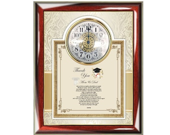 Graduation Parents Gift Of Poetry Clock Frame Thank You Present School Support Family Friends Graduate
