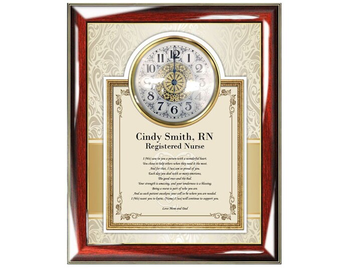 Personalized Nurse Graduation Gift Clock Frame Nursing School Present Registered Nurse Bachelor BSN ASN Practitioner Present