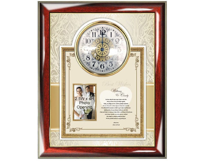 Personalized Son Or Daughter Wedding Poetry Gift Picture Frame From Parents Mom Dad Photo Frame Present To Bride Groom