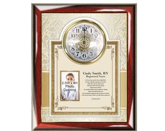 Nurse Practitioner Poetry Clock Picture Frame Gift Registered Nurse BSN RN Graduation Present Photo Frame Nursing School Congrats Poem