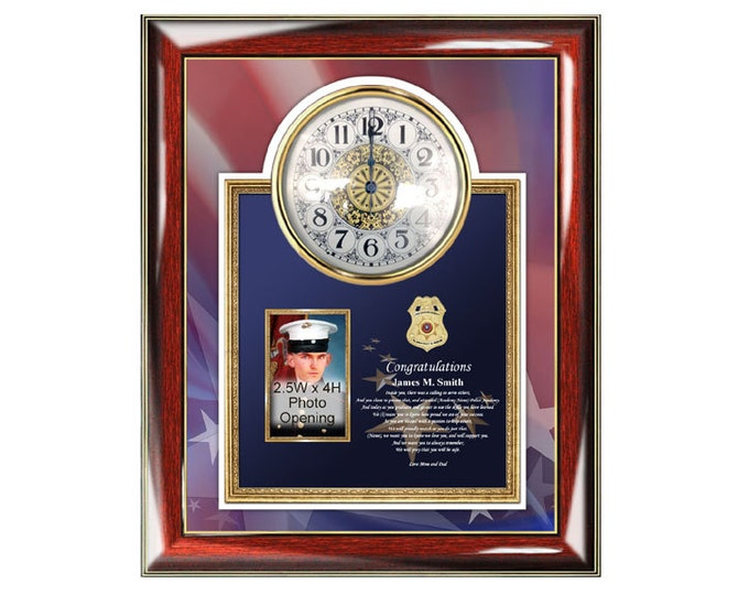 Law Enforcement Congratulation Graduation Gift Frame Personalized Police School Sheriff Academy Graduate Picture Frames Policeman