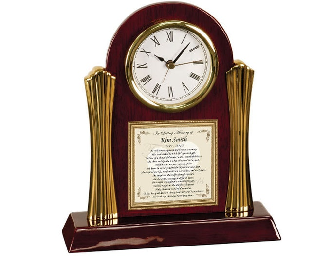 Memorial Gift Poem Cherry Clock Remembrance Bereavement Comfort Loss of Loved one Poetry Condolences