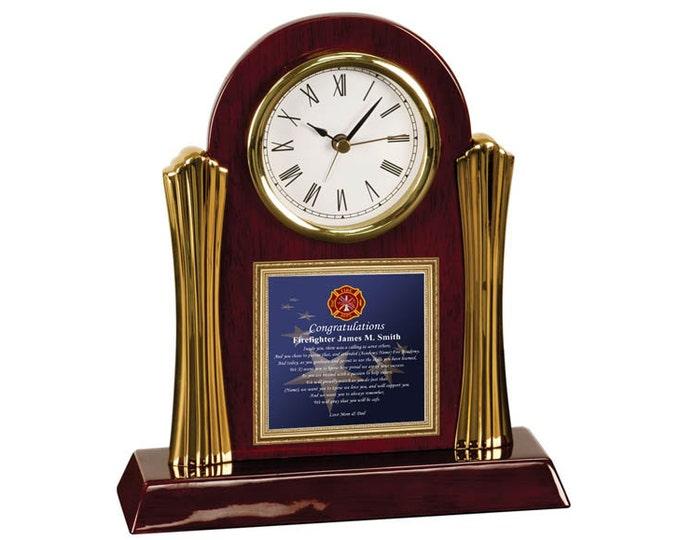 Fire Academy Graduation Gift Firefighter School Poem Clock Fireman Graduate Student Present