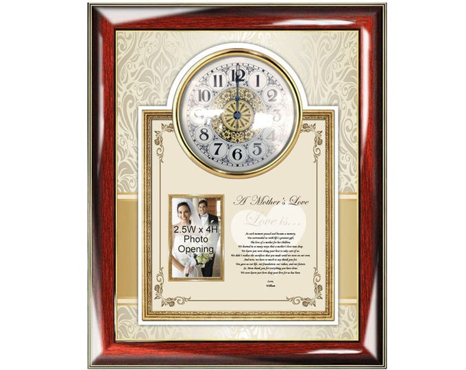 Mother Thank You Poetry Picture Frame Clock Personalized Gifts Mom Mothers Day Present Photo Plaque Poem From Daughter Son