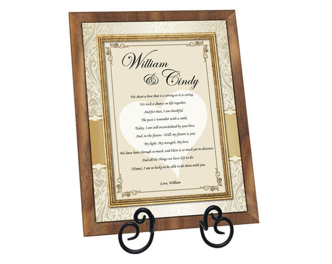Love Poetry Romantic Gift of Poem Walnut Plaque Girlfriend Boyfriend Wife Husband to say I Love You Forever Birthday Present