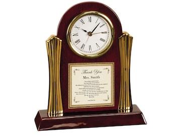 Gifts for Teachers Educators Professors Preschool Mentor Personalized Thank You Poem Clock Present