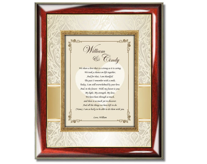 Personalized Poetry Love Gift Wall Picture Frame Anniversary Birthday Valentines Day Present Romantic Poem Frame Wife Husband
