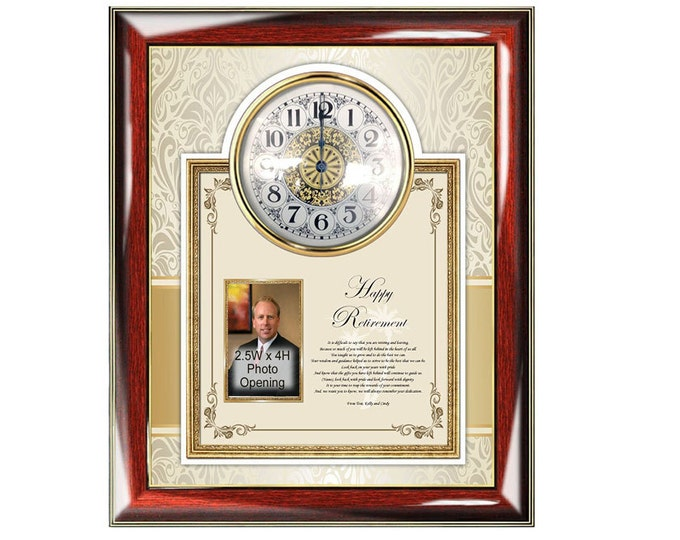 Farewell Retiring Employee Coworker Boss Sayings Poem Retirement Gift Clock Poetry Picture Frame Poetry Congratulation Retirement Present