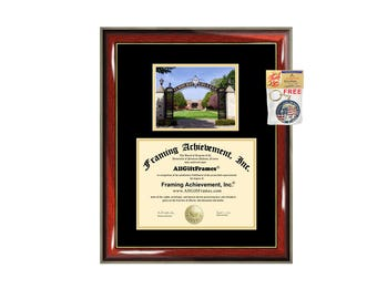 Elmhurst College diploma frame Elmhurst university degree frames campus certificate framing gift graduation plaque document graduate alumni