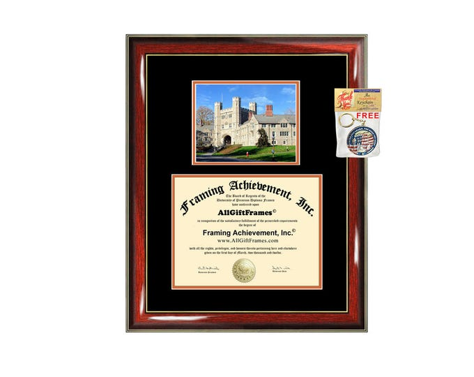 Princeton University diploma frame campus picture degree framing graduation gift certificate frames plaque certificate holder case graduate