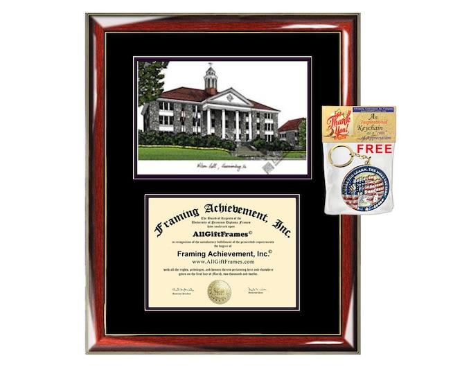 James Madison University diploma frame lithograph campus image JMU certificate degree frames framing gift graduation plaque college graduate