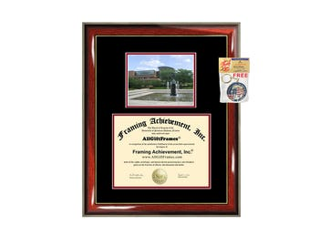 SVSU diploma frame campus certificate Saginaw Valley State University degree frames framing gift graduation award plaque document