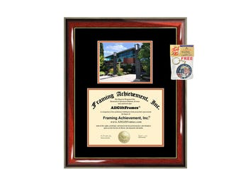 Lewis & Clark College diploma frame campus certificate degree frames framing gift graduation plaque document university certification