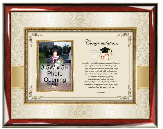 Poetry Picture Graduation Photo Frame Portrait College Graduate Picture Frame Congratulation Poem Gift