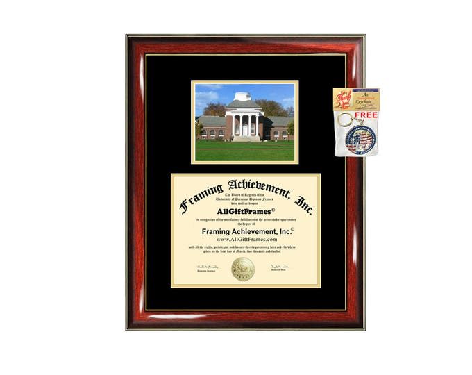 University of Delaware diploma frame campus photo certificate framing graduation document college degree plaque graduate document