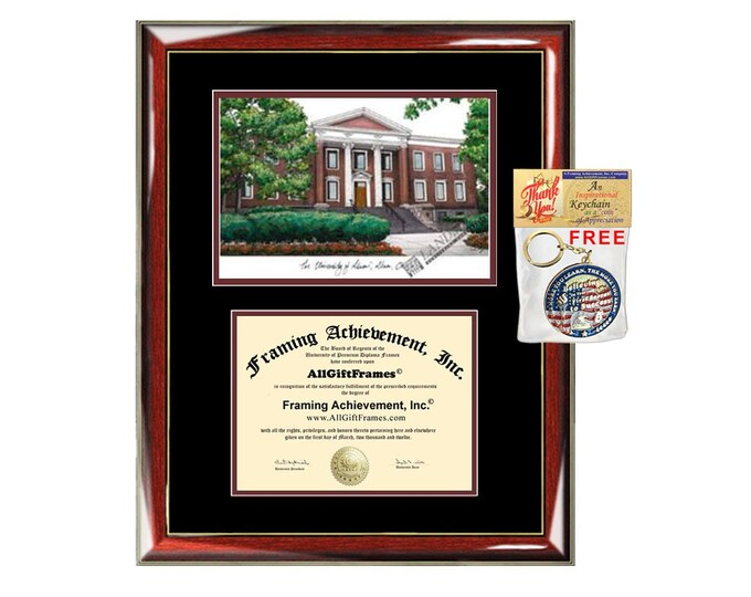 University of Akron diploma frames Akron lithograph frame sketch certificate framing graduation degree gift college document plaque graduate