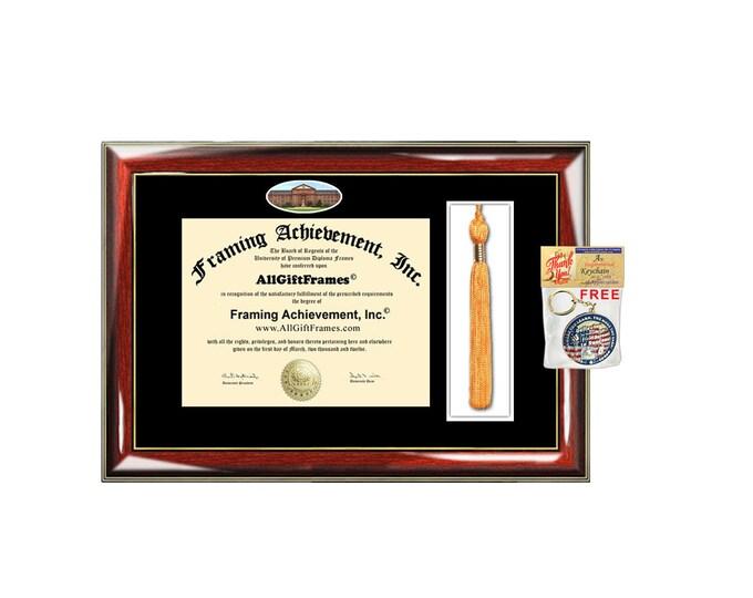 Regis University diploma frame college tassel holder case campus picture certificate graduation degree gift college bachelor master mba phd