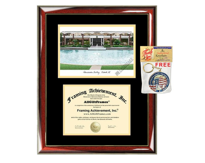 UCF diploma frames University of Central Florida lithograph frame campus sketch framing graduation degree gift college plaque certificate
