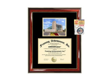 Ferris State University diploma frame campus certificate FSU degree frames framing gift graduation plaque document college