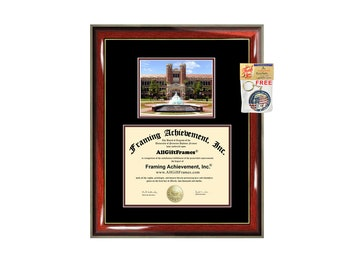 Florida State University diploma frame campus certificate FSU degree frames framing gift graduation plaque document college graduate framing
