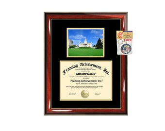 University of Iowa diploma frame campus photo certificate framing graduation document college degree plaque graduate document picture