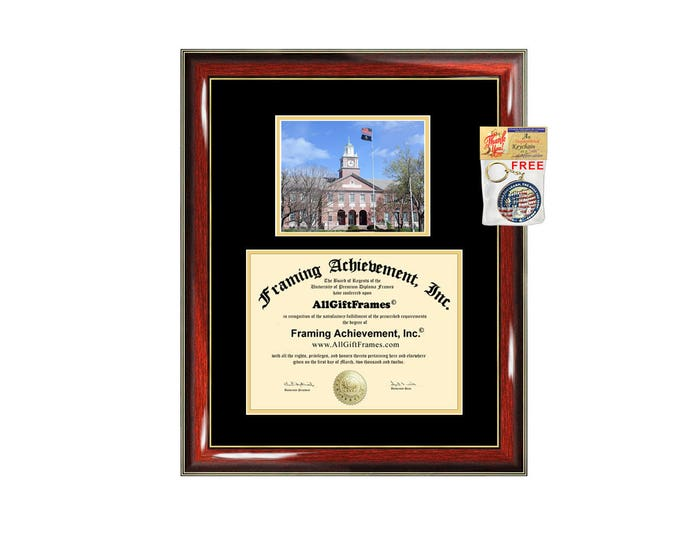 Wichita State University diploma frame campus photo certificate framing graduation document plaque degree gift college graduate picture