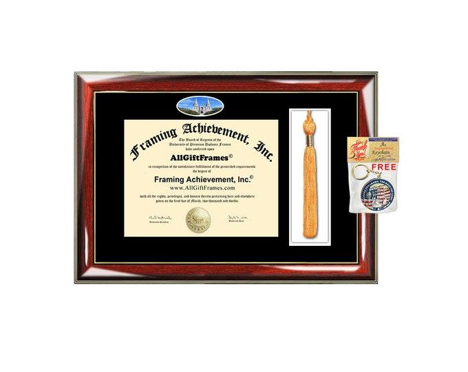 Villanova University diploma frame tassel box holder school campus photo  bachelor master mba phd framing certificate