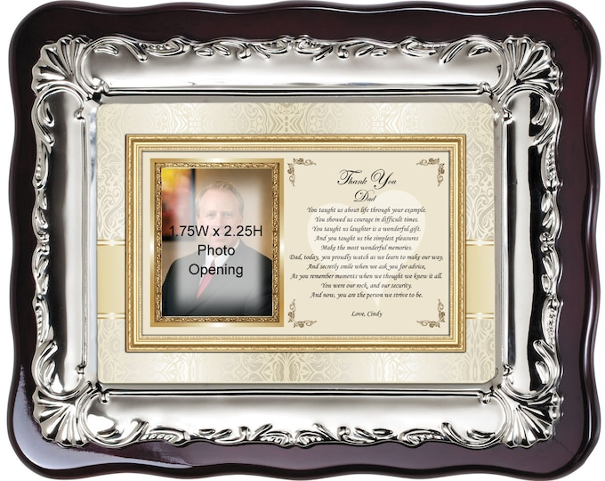 Personalized Picture Frame Father of Bride Thank You Gift or Birthday Christmas Gift for Dad from Daughter Family Son Photo Frame