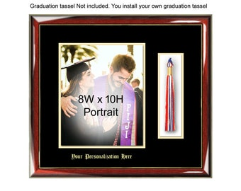 Graduation Picture Frame with 8x10 Photo and Graduation Tassel Box Holder Graduate Plaque Case Wall Frame Graduation Gift College University