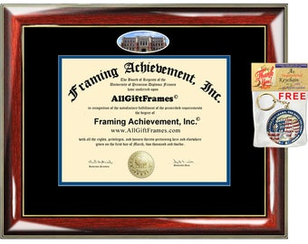 Concordia College New York diploma frame degree double mat framing gift graduation bachelor master phd mba doctorate certificate plaque