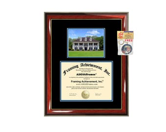 McNeese State University diploma frame campus picture certificate framing campus photo MSU graduation gift document holder college graduate
