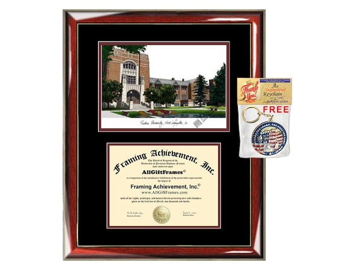 Purdue University diploma frames lithograph Purdue degree frame campus image certificate framing graduation gift college plaque graduation