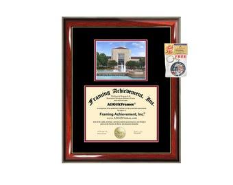 University of Houston diploma frame campus photo certificate framing graduation document college degree plaque graduate document