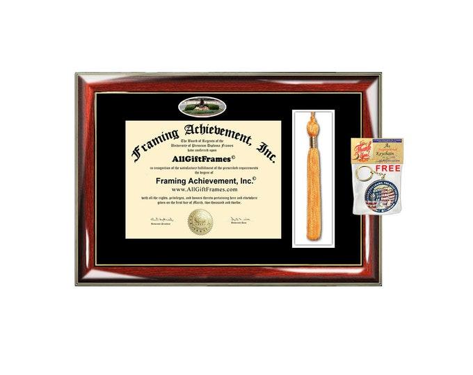 University of North Carolina Charlotte diploma frame UNCC tassel holder graduation frames school campus picture degree gift college plaque