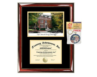Virginia Commonwealth University diploma frames lithograph VCU frame campus sketch framing graduation degree gift college plaque certificate