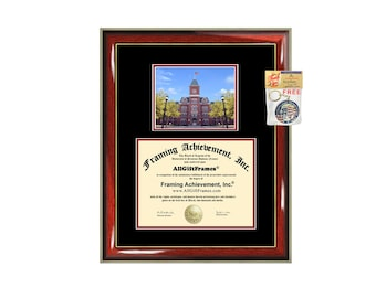 Ohio State University diploma frame OSU degree frames campus certificate framing gift graduation plaque document certification graduate