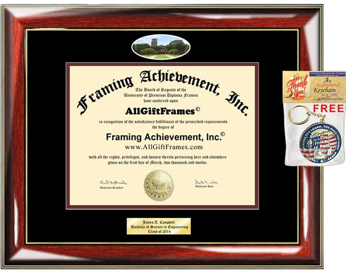 Midwestern State University diploma frame certificate MWSU school photo Personalized Bachelor Master Doctorate phd mba Engrave Holder Case