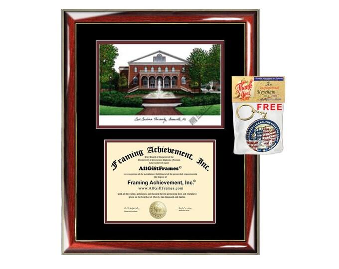 ECU diploma frames East Carolina University lithograph frame sketch certificate framing graduation degree gift college document plaque