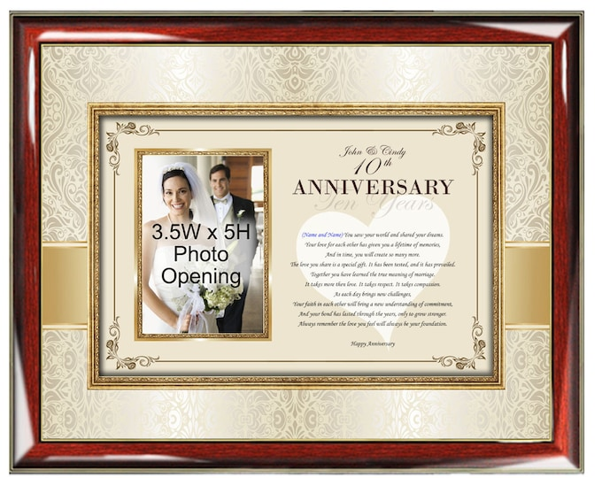 Personalized Happy Anniversary Poetry Picture Photo Frame Plaque Unique Gift Romantic Love Poem