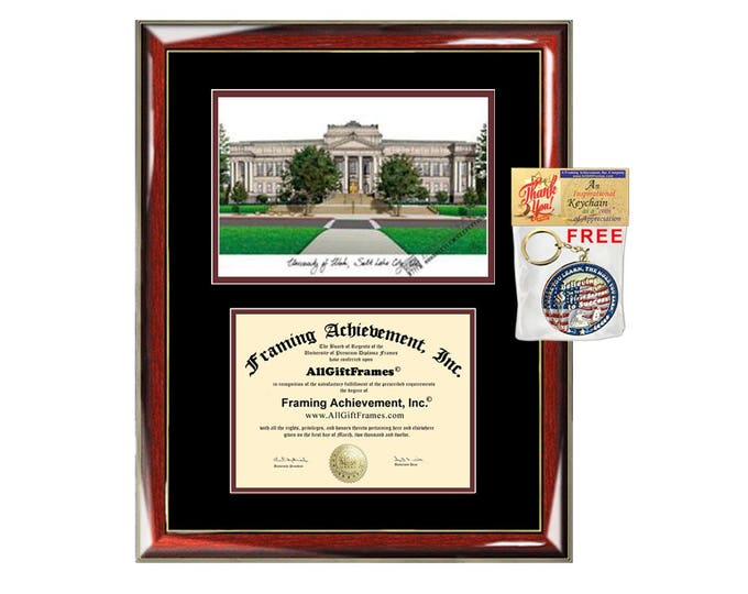 University of Utah diploma frames lithograph Utah frame campus image sketch certificate framing graduation degree plaque graduate gift case