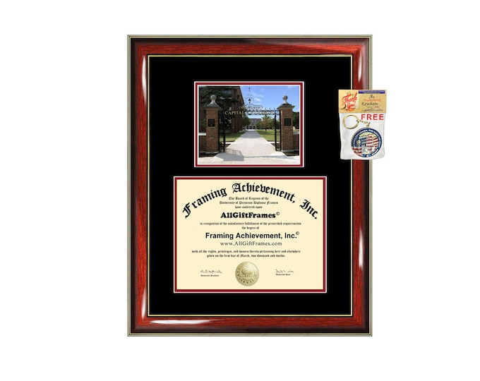 Capital University diploma frame campus certificate Capital degree frames framing gift graduation plaque document graduate alumni